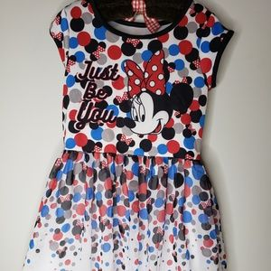 Girls Disney Minnie Mouse Dress Size L 10-12